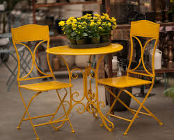 Vienna Yellow Bistro Set Outdoor Living Outdoor Seating House - Yellow patio furniture