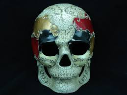 men u0027s full face halloween sugar skull black red skull mask