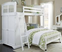 White Bunk Beds With Stairs Home Design Styles - Stairway bunk bed twin over full
