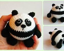 crocheted panda etsy