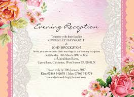 reception invitation pastel watercolour evening reception invitation from 0 85 each