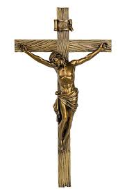 amazon com wood inspired bronze wall cross crucifix jesus christ