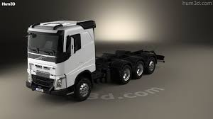2016 volvo truck models 360 view of volvo fh chassis truck 4 axle 2016 3d model hum3d store