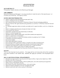 good objective for warehouse resume cover letter warehouseman resume warehouse resume skills examples cover letter sample of warehouse resume objective job and template general skills objetive apply technician related