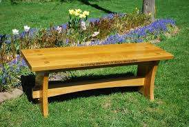 handmade memorial wood bench by larue woodworking custommade com