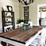 farm style dining room table table decoration ideas