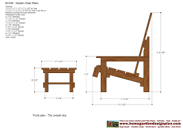 Wood Plans Free Garden Furniture by Home Garden Plans Gc100 Garden Chair Plans Out Door Furniture