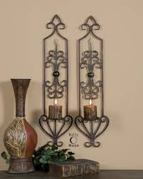 Kirklands Wall Sconces by Candle Sconces Wayfair Classic Iron And Glass Cylinder Wall Sconce