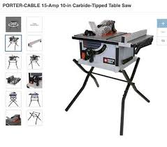 porter cable table saw review porter cable carbide tipped table saw 15 amp 10 in adjustable power