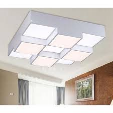 Flush Mount Led Ceiling Light Fixtures Square Shaped Acrylic Shade Flush Mount Led Ceiling Light