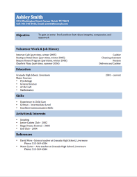 Simple Student Resume Template Resume Template For Teenager A2cabs Leadwire Co