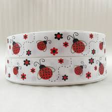 ladybug ribbon 10y43545 7 8 22mm ladybug ribbon high quality printed polyester