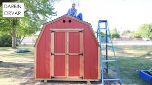 building a backyard shed w ready shed youtube