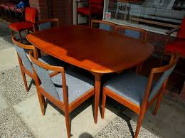 retro 1960 u0027s parker dining table 6 chairs restorered and