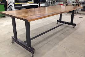 the glenn communal table industrial office furniture modern