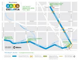 Route Mapping by Ciclavia The Valley