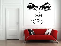 wall decals stickers home decor home furniture diy wall vinyl sticker decals mural room design art woman face beautiful girl bo559