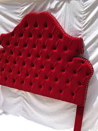 red velvet headboard tufted headboard king queen full twin