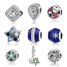 pandora style silver charm bracelet images 2017 winter style crystalised 925 sterling silver charms christmas jpg