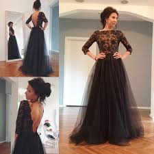 tulle for sale hot sale tulle sleeve black lace evening gowns dresses a
