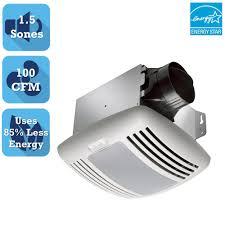 Bathroom Exhaust Fan With Light Delta Breez Greenbuilder Series 100 Cfm Ceiling Bathroom Exhaust