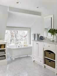 molly frey design beautiful bathroom with sloped ceiling soft