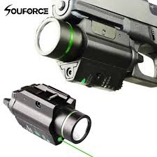 laser and light combo tactical flashlight green laser sight cree led light combo mount