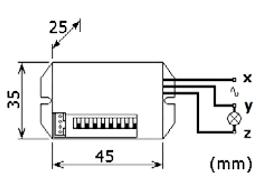 velleman 240v mini pir motion detector pir415