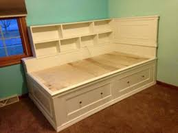 ana white build a twin storage captains bed free and easy