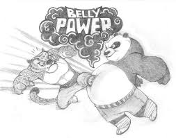 kung fu panda belly power po vs tai lung by katytorres on