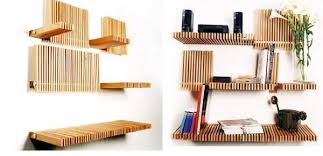 Wooden Shelf Design Ideas by Sean Yoo Opus Bookcase Home Interior Design Ideas