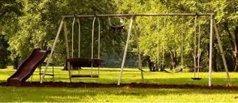 Park Flyers Backyard Flyers by Flexible Flyer Play Park Metal Swing Set Four Passenger Lawn Swing