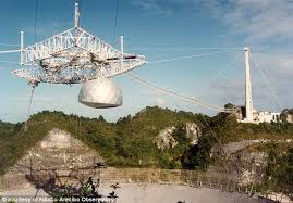 Arecibo Light Arecibo Observatory Satellite Dish In Puerto Rico Severely Damaged