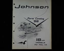 1959 johnson 18 hp fd fdl 13 outboard spare parts manual book