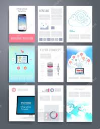conceptmodern computer technology templates vector flyer brochure cover for