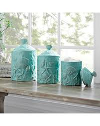 3 kitchen canister set find the best savings on turquoise seashell kitchen canisters set