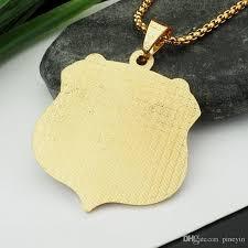 letter plate necklace images Wholesale crystal letter plate pendant necklace hip hop gold jpg