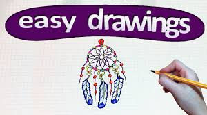 easy drawings 207 how to draw a dreamcatcher youtube