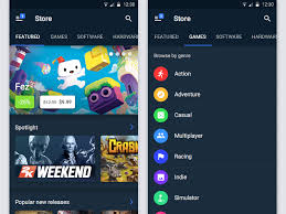 steam to android steam android app redesign uplabs