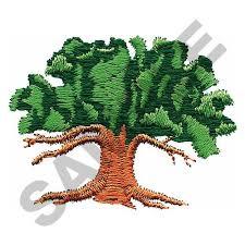 oak tree embroidery design annthegran