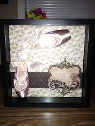 Studio Decor Shadow Box Shadow Box With Dance Picture My Little U0027s First Pair Of