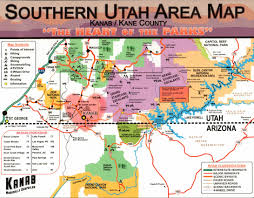 Utah National Park Map by Kanab Rv Corral