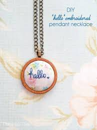 diy necklace pendant images Hello quot embroidered pendant necklace jpg