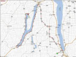 Finger Lakes New York Map by Finger Lakes Bicycle Camping Tour U2013 Bike New England