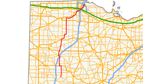 Ohio State Map With Cities by Ohio State Route 65 Wikipedia