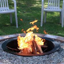 How To Make A Homemade Fire Pit Amazon Com Sunnydaze Durable Steel Fire Pit Ring Liner Diy Fire