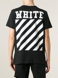 t shirt originale off white c o virgil abloh caravaggio print t shirt in black for
