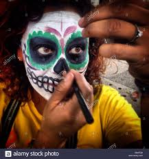 a catrina in mexico city the day of the dead celebration mixes