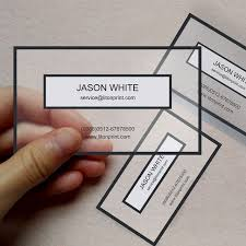 custom clear pvc business cards transparent pvc right angle cut