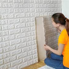 wide wallpaper home decor 70x77cm pe foam 3d wall stickers safty home decor wallpaper diy wall